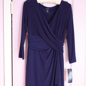 Chaps blue dress
